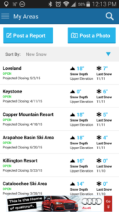 SkiReport Android